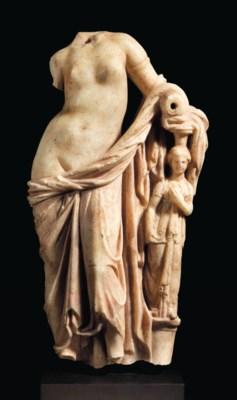 A GREEK MARBLE APHRODITE