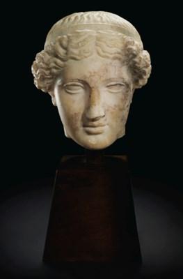 A ROMAN MARBLE HEAD OF VENUS