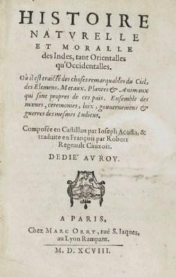 ACOSTA, Jose de. Histoire Natu