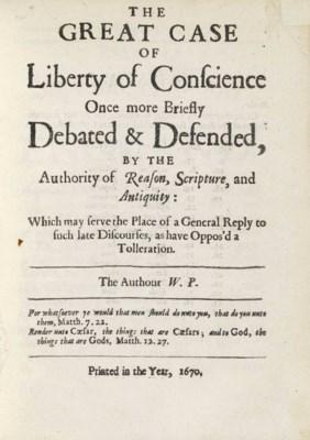 PENN, William (1644-1718). The