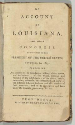 [LOUISIANA]. An Account of Lou