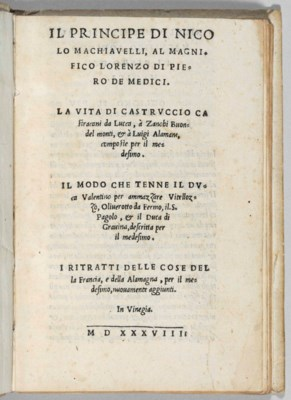 MACHIAVELLI, Niccolò (1469-152