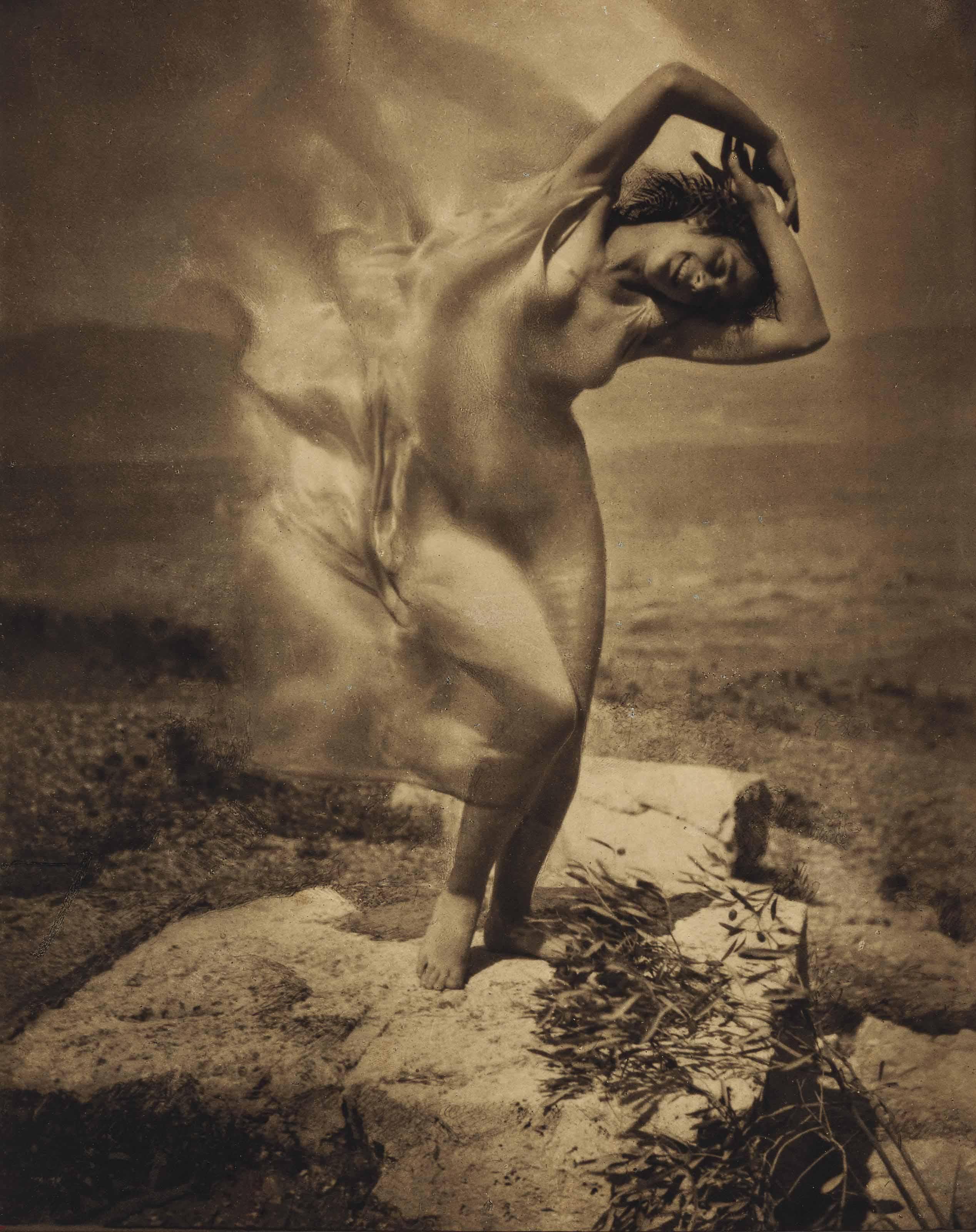 Wind Fire - Thérèse Duncan on the Acropolis, 1921