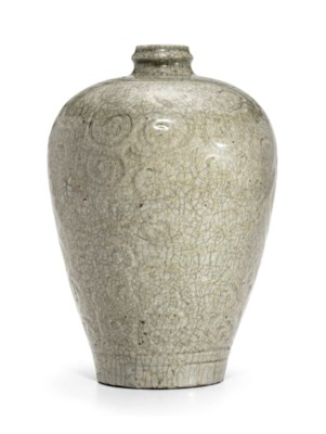 A QINGBAI-STYLE CARVED VASE, M
