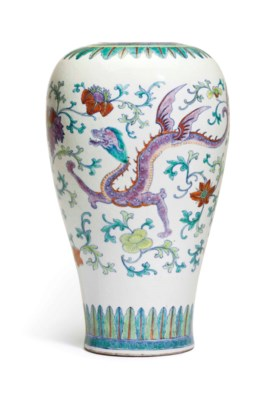 A DOUCAI HIGH-SHOULDERED VASE