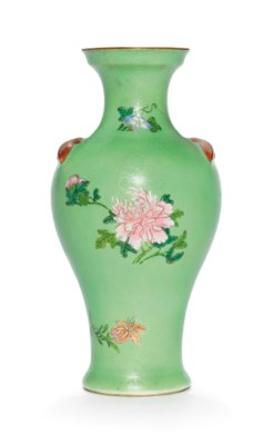 A FAMILLE ROSE LIME-GREEN SGRA