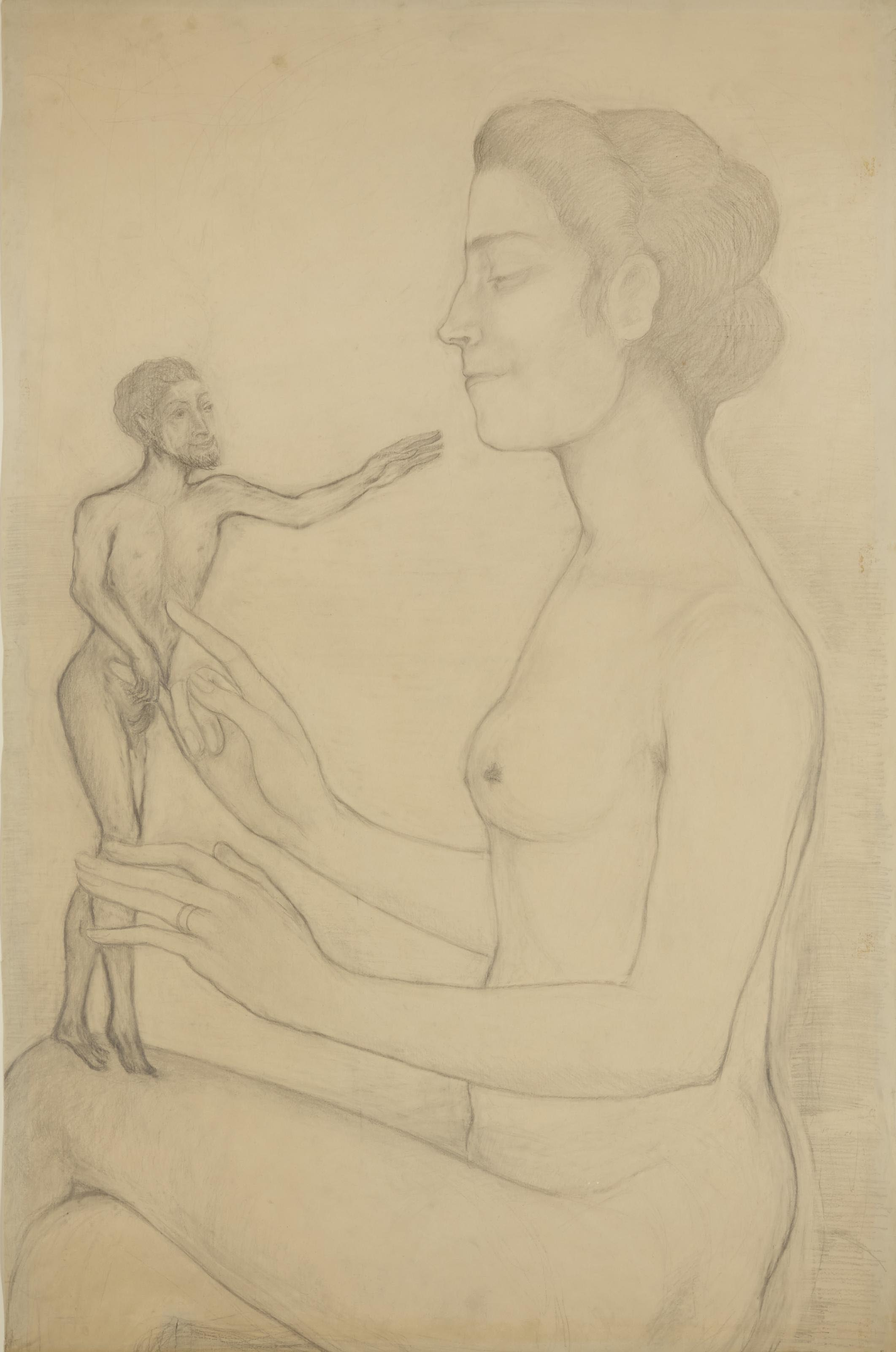 Portrait de la femme de l'artiste tapant à la machine
