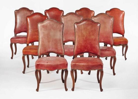 Suite de neuf chaises de style rococo christie 39 s - Chaises de style ancien ...