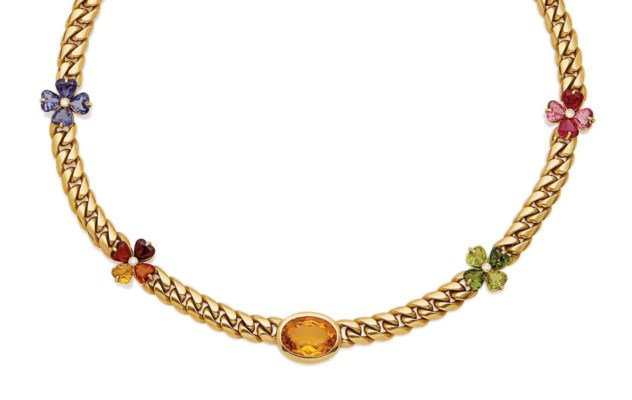 COLLIER SAPHIRS DE COULEUR, AM