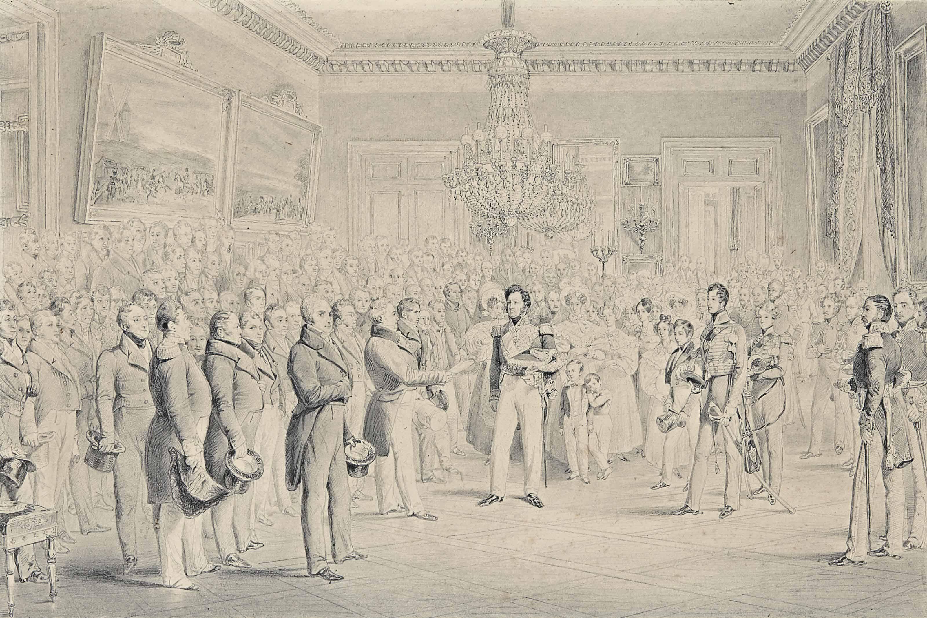 Louis-Philippe recevant la Charte au Palais-Royal, le 9 août 1830