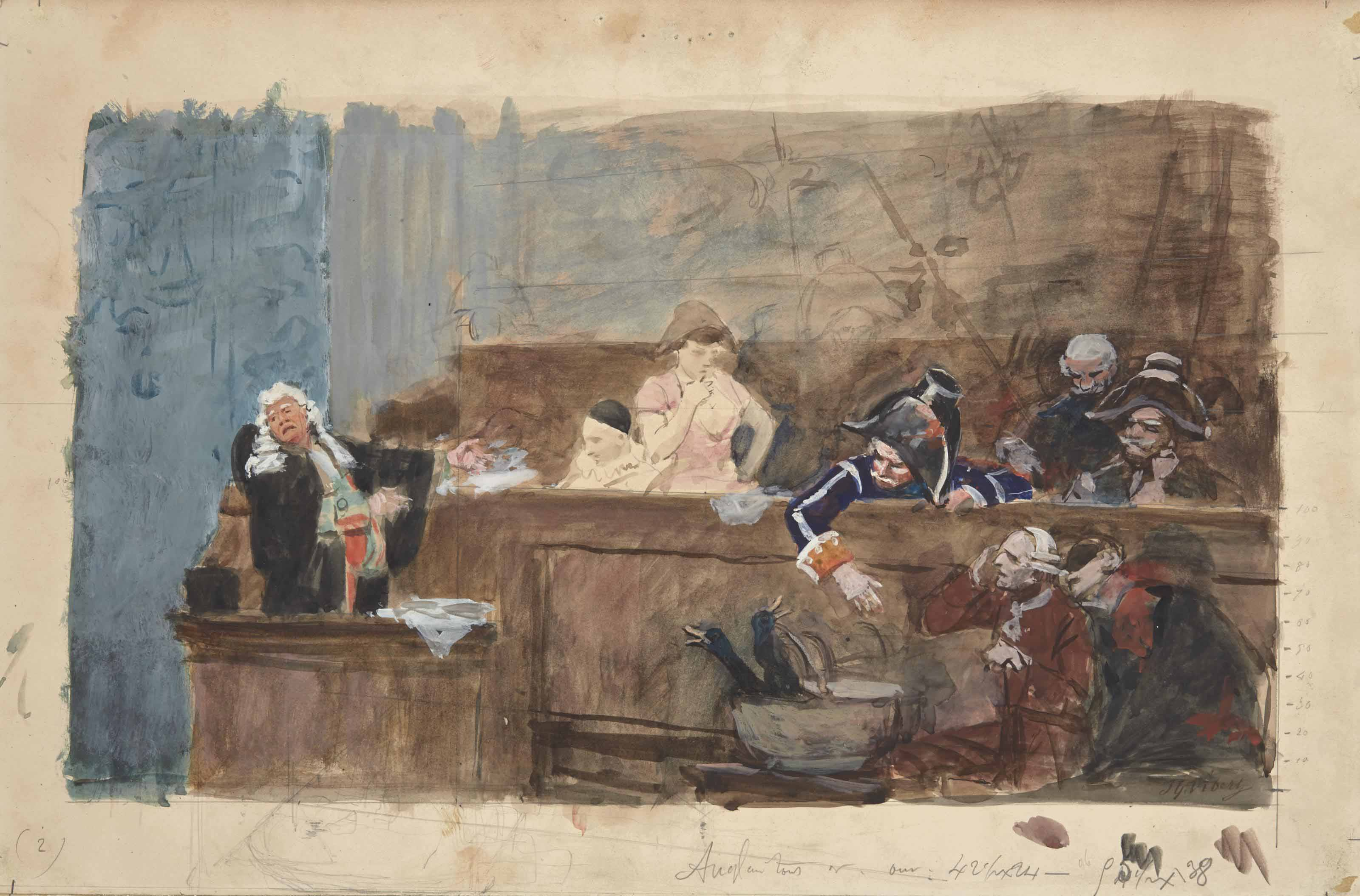 Scène de tribunal