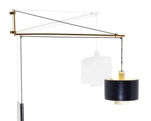 gaetano sciolari applique potence contrepoids le mod le cr en 1959 dition stilnovo. Black Bedroom Furniture Sets. Home Design Ideas