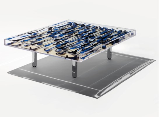 arman 1928 2005 table basse mali dition limit e 60. Black Bedroom Furniture Sets. Home Design Ideas
