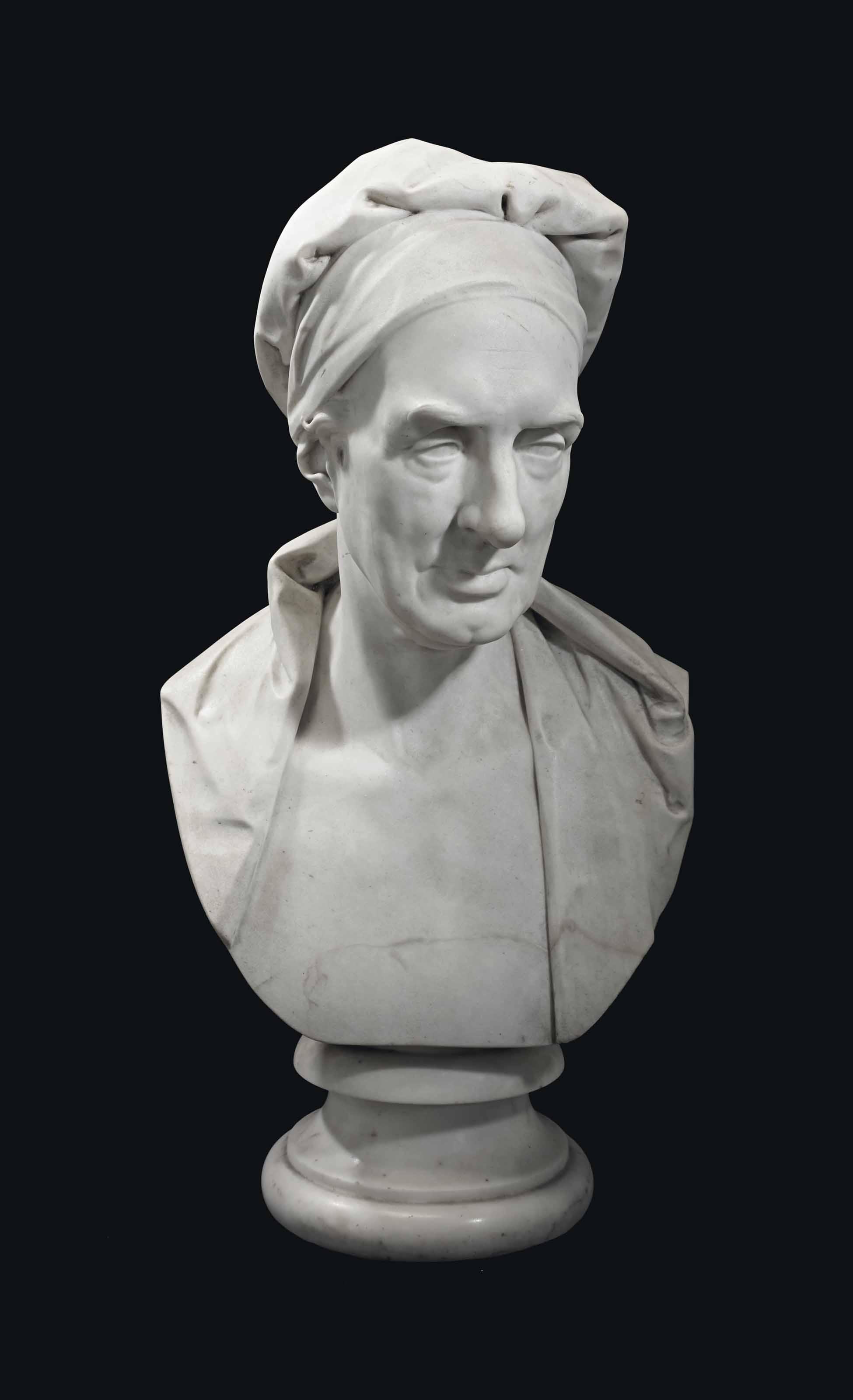 BUSTE EN MARBRE SCULPTE REPRESENTANT ALEXANDER KNOX (1757-1831)