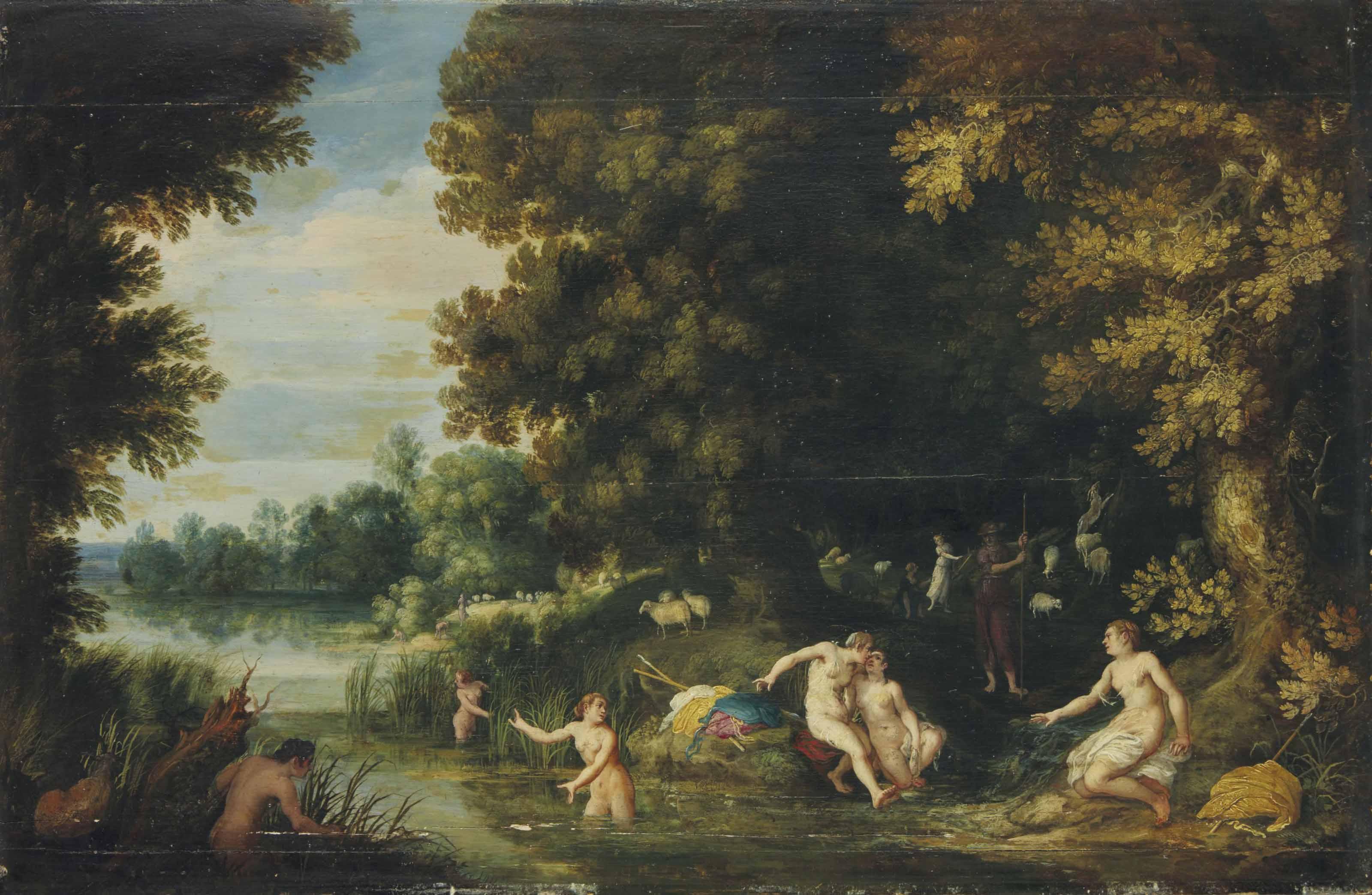 Diane et Callisto, Actéon dans le lointain