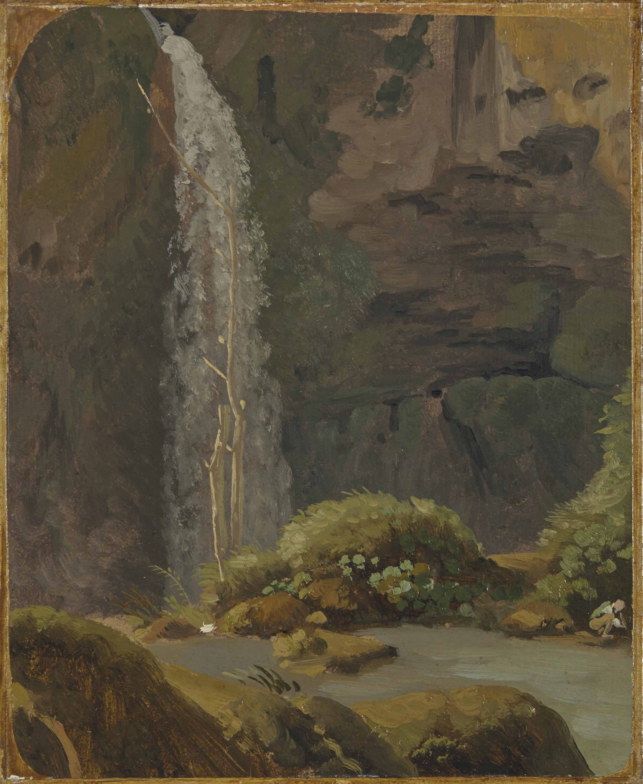 La cascade dans la Grotte de Neptune à Tivoli