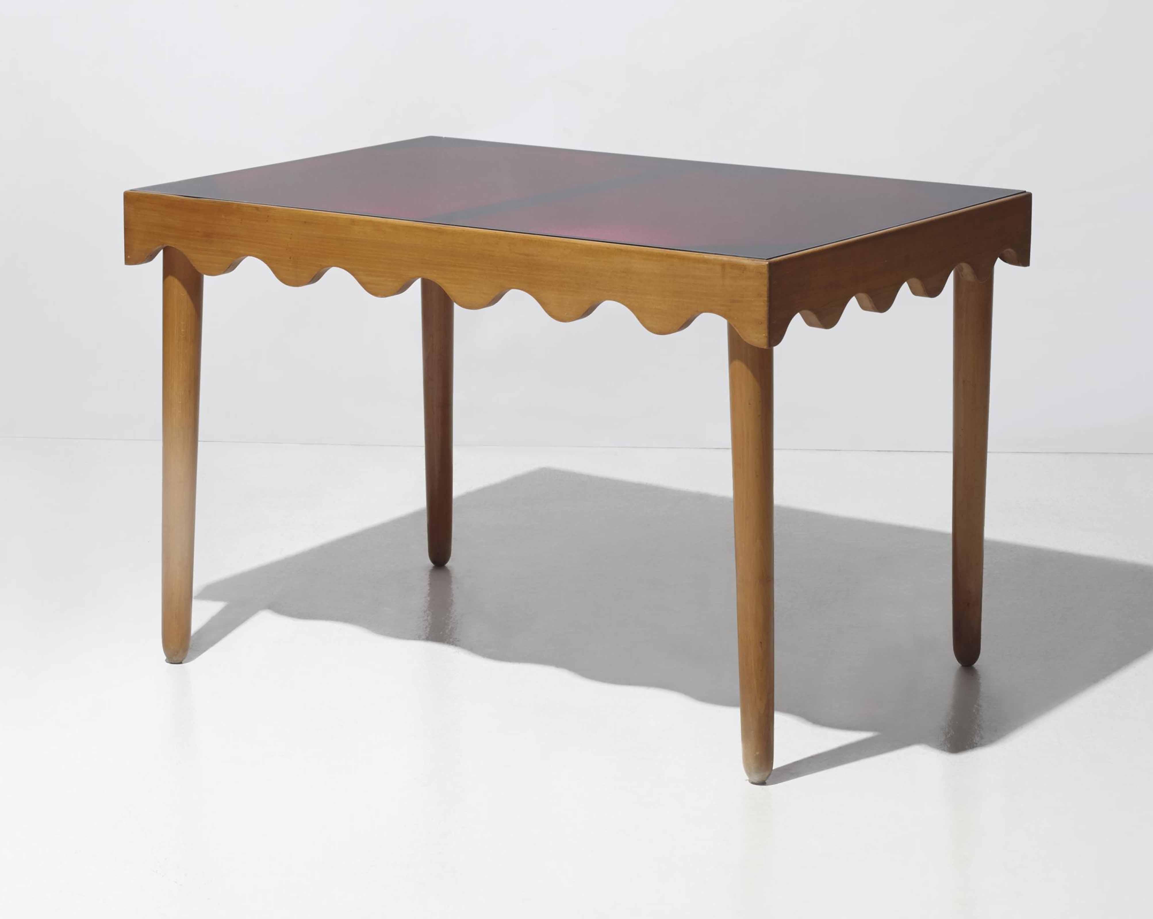 Jean roy re 1902 1981 table de salle manger ondulation for Table de salle a manger new york