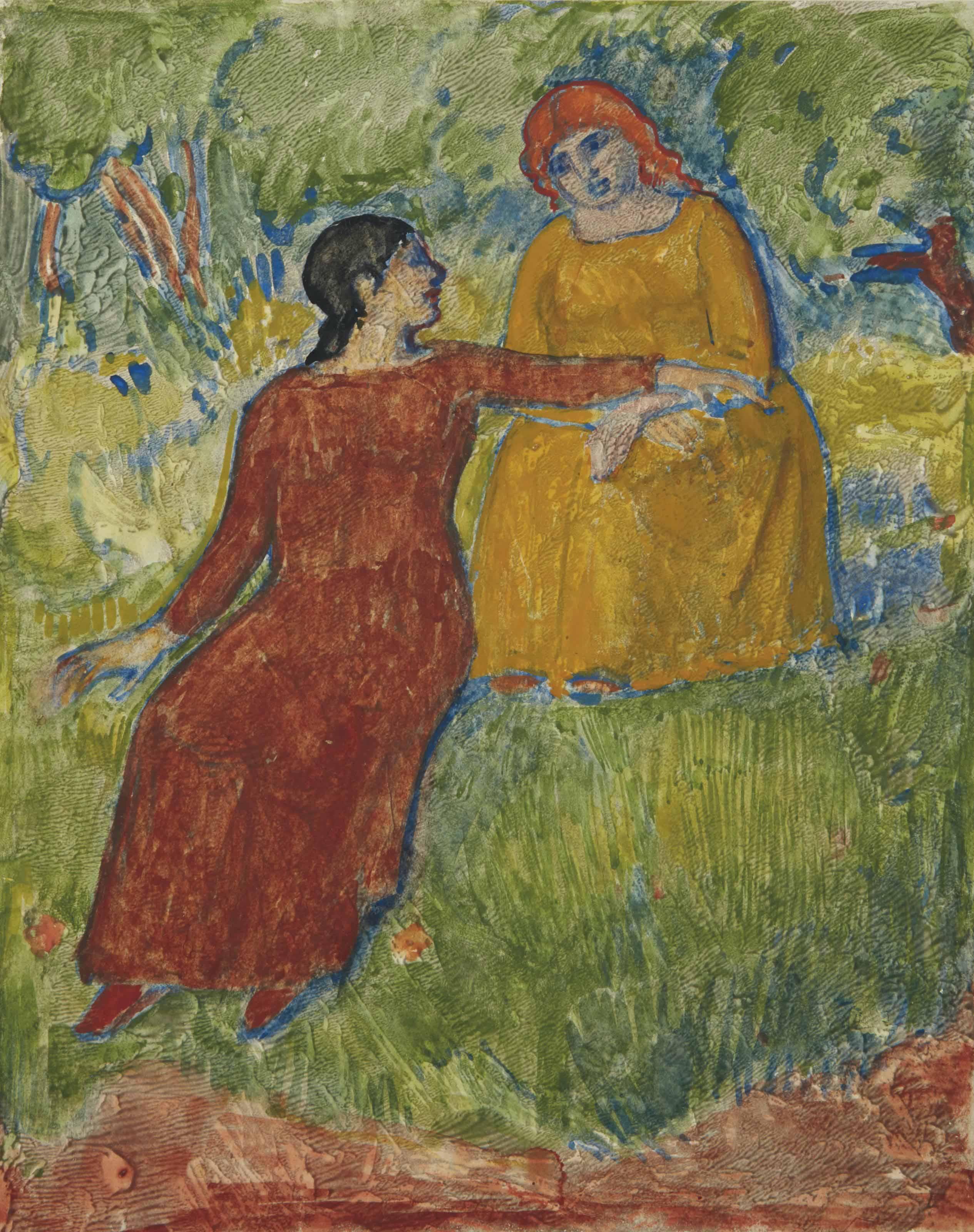 Deux femmes dans un champ