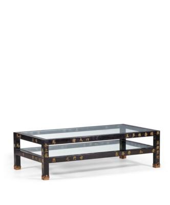 table basse en laque de coromandel et verre les montants en bois laque chine dynastie qing. Black Bedroom Furniture Sets. Home Design Ideas