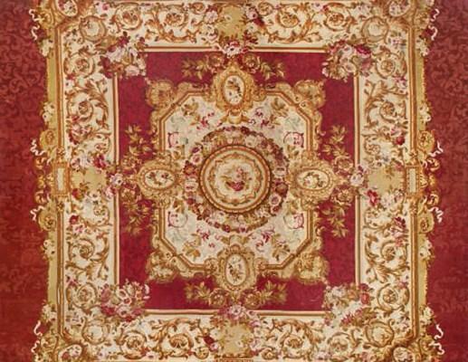 tapis d 39 epoque napoleon iii aubusson seconde moitie du xixeme siecle christie 39 s. Black Bedroom Furniture Sets. Home Design Ideas