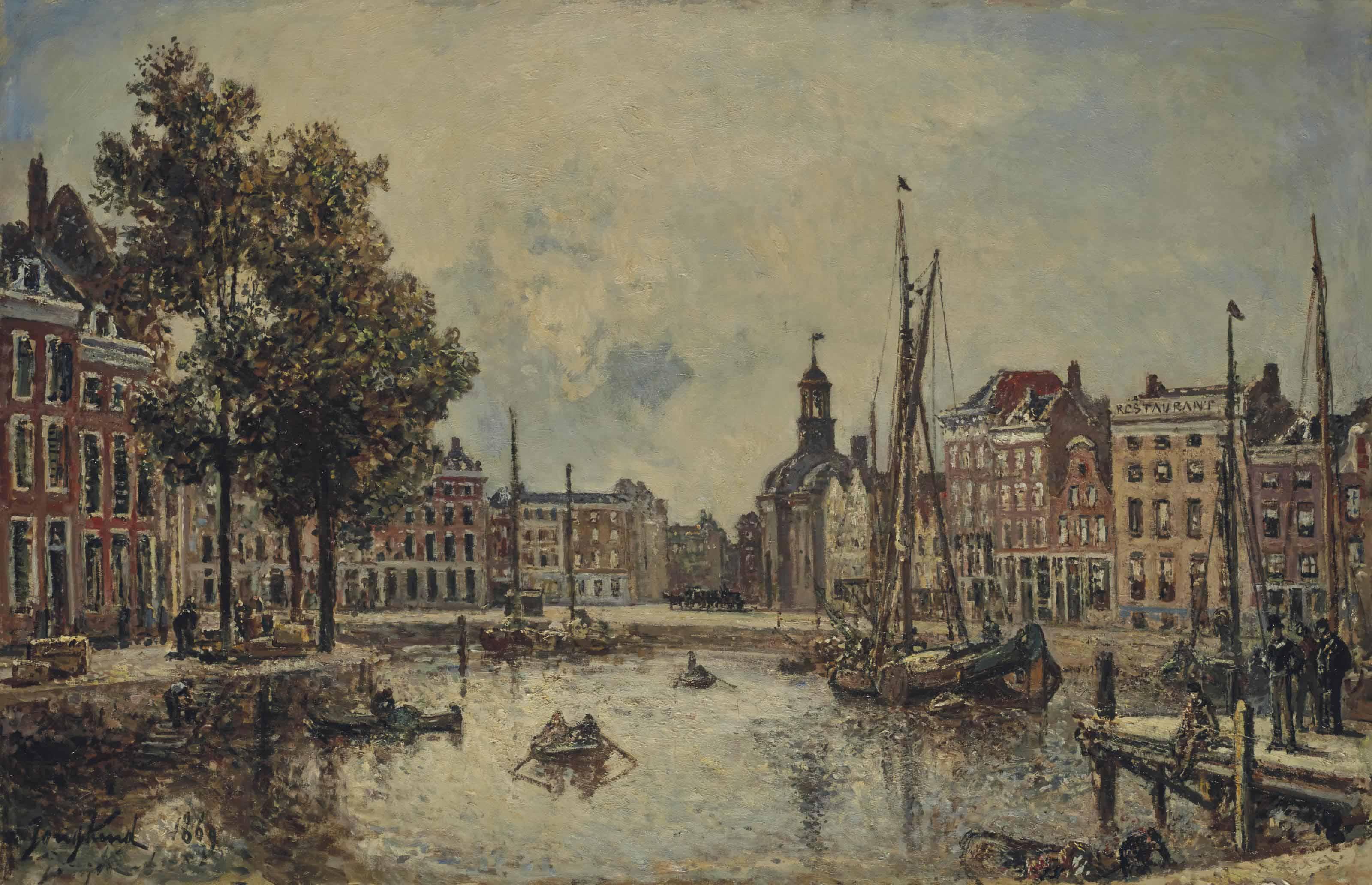 Le port de Rotterdam, le matin : vue sur la Bourse