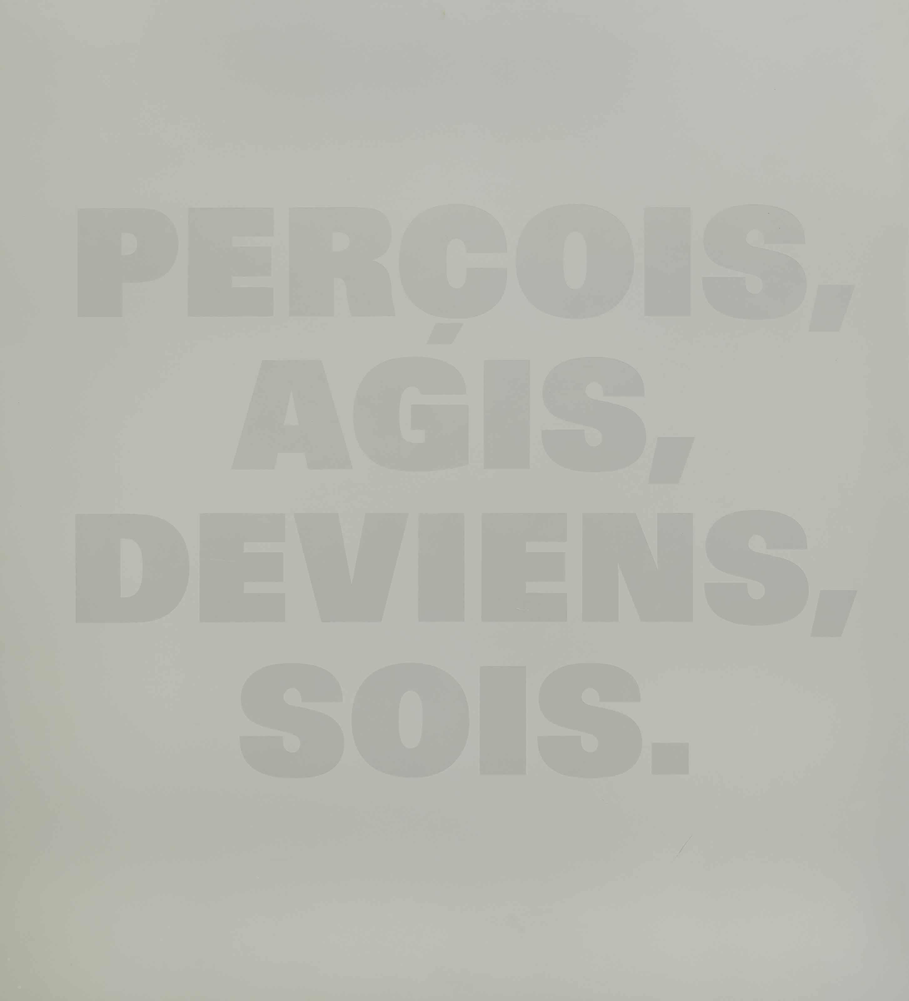 PERÇOIS, AGIS, DEVIENS, SOIS, 1988/91