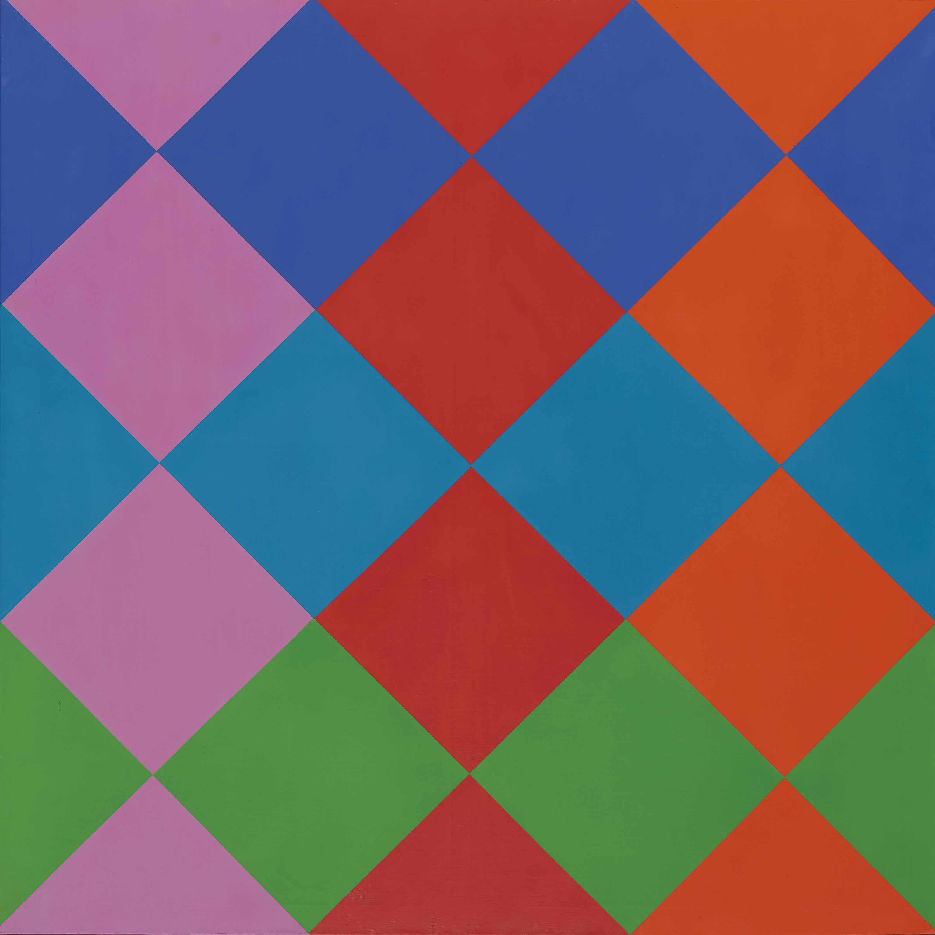 Feld aus sechs Farbdurchdringungen, 1966