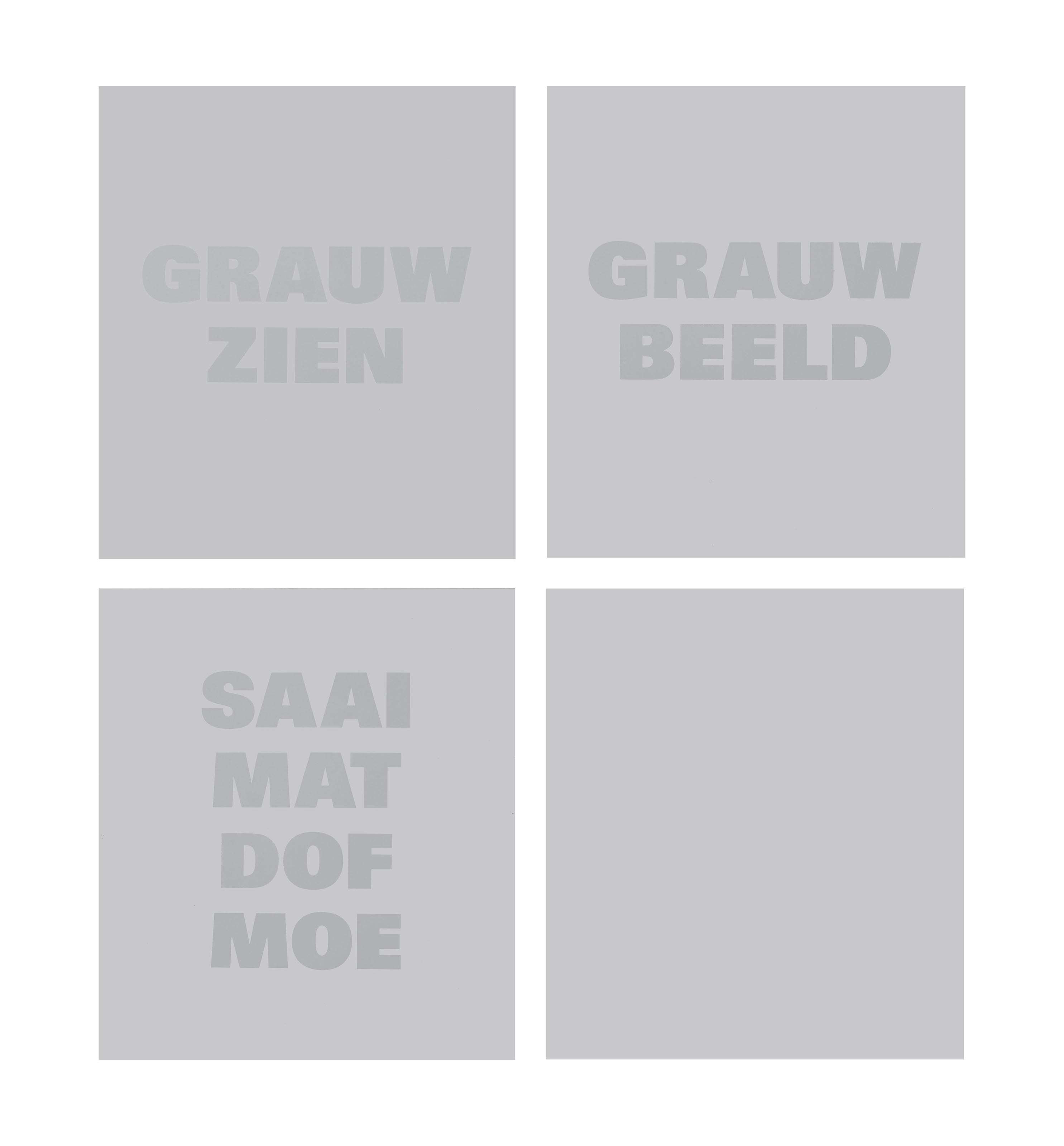 Grauw Zien, Grauw Beeld, Saai Mat Dof Moe (Bleak Look, Bleak Image, Drab Matte Dull Tired)