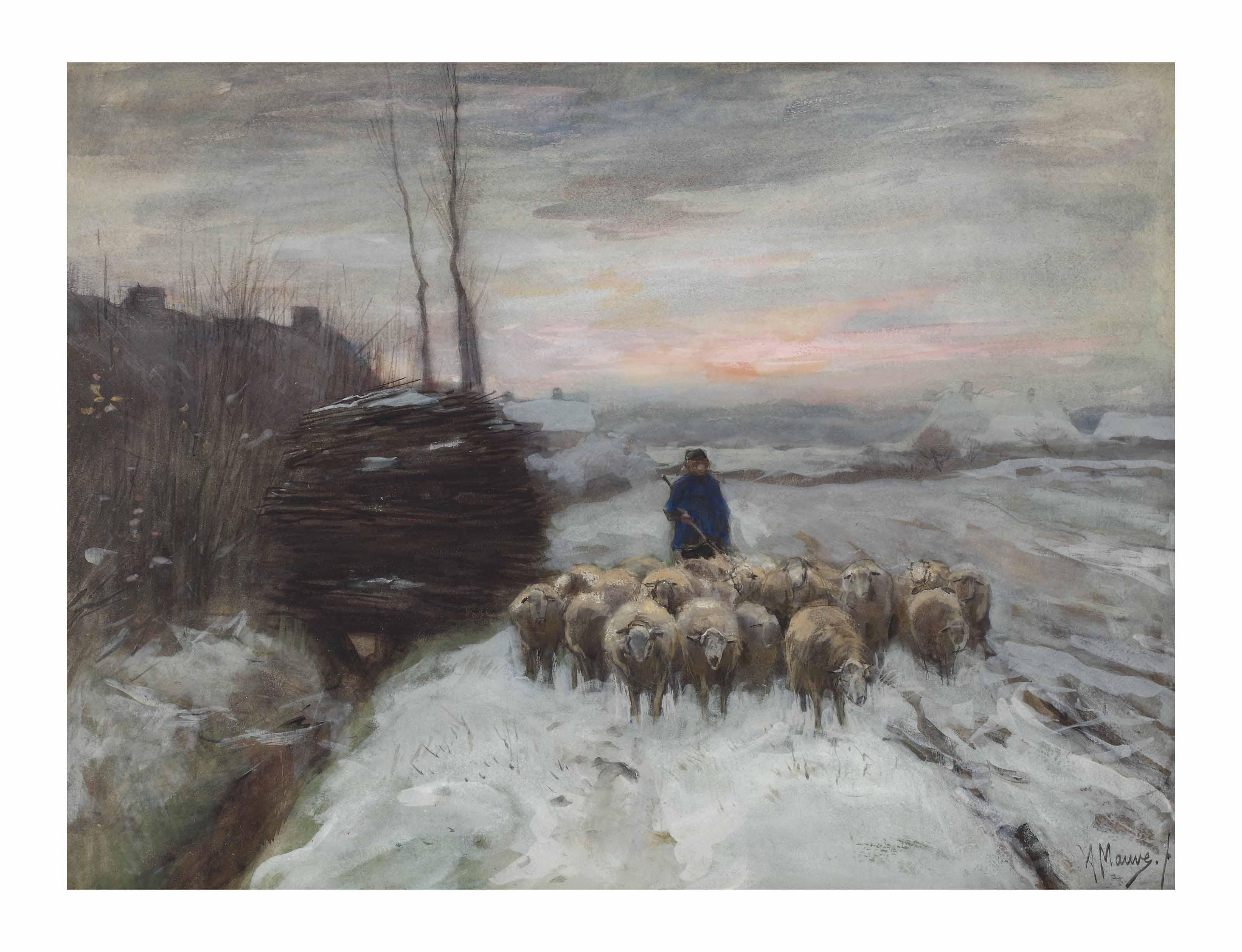 Guiding the flock to the heath, Laren
