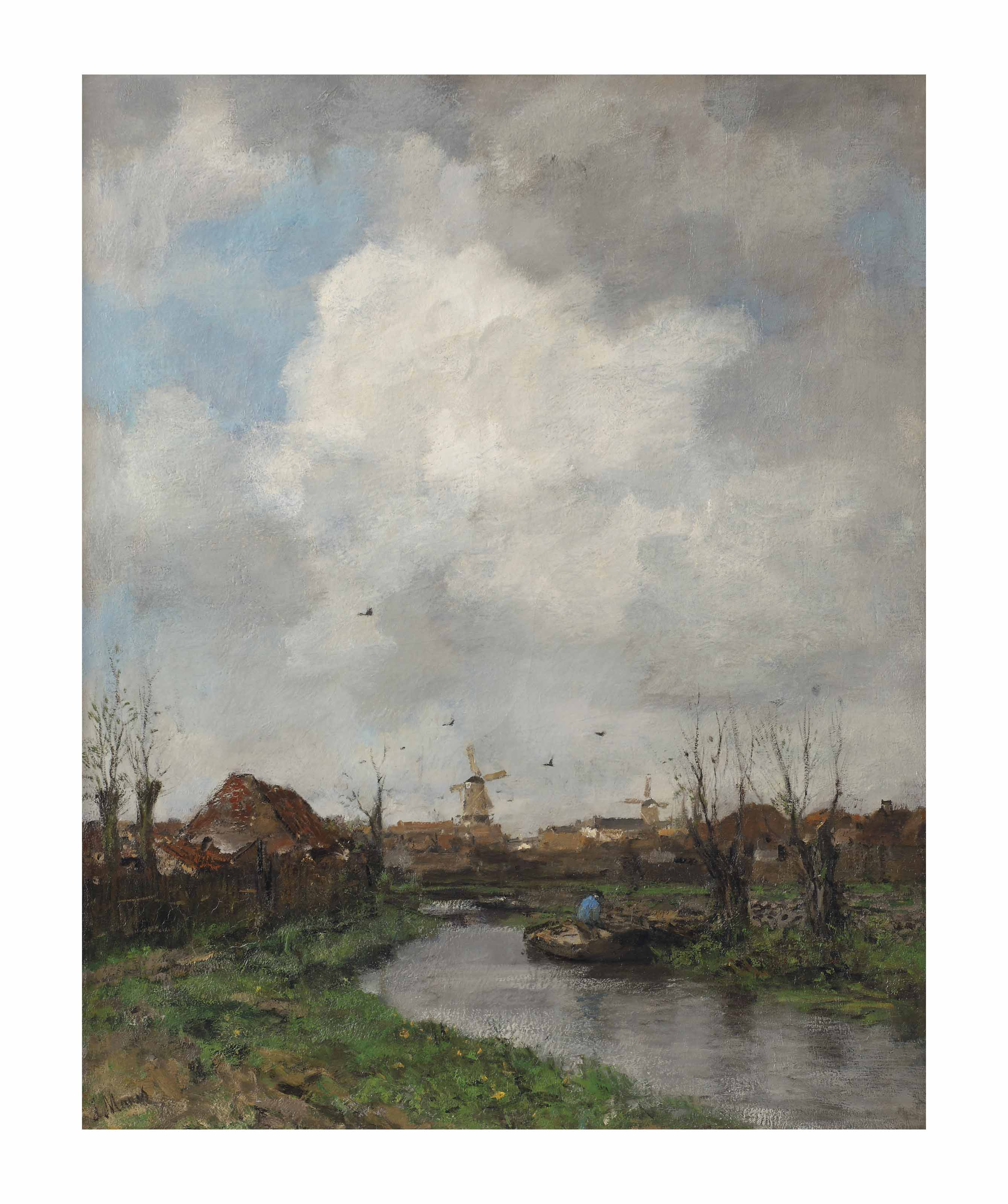 The canal: salad gardens near The Hague