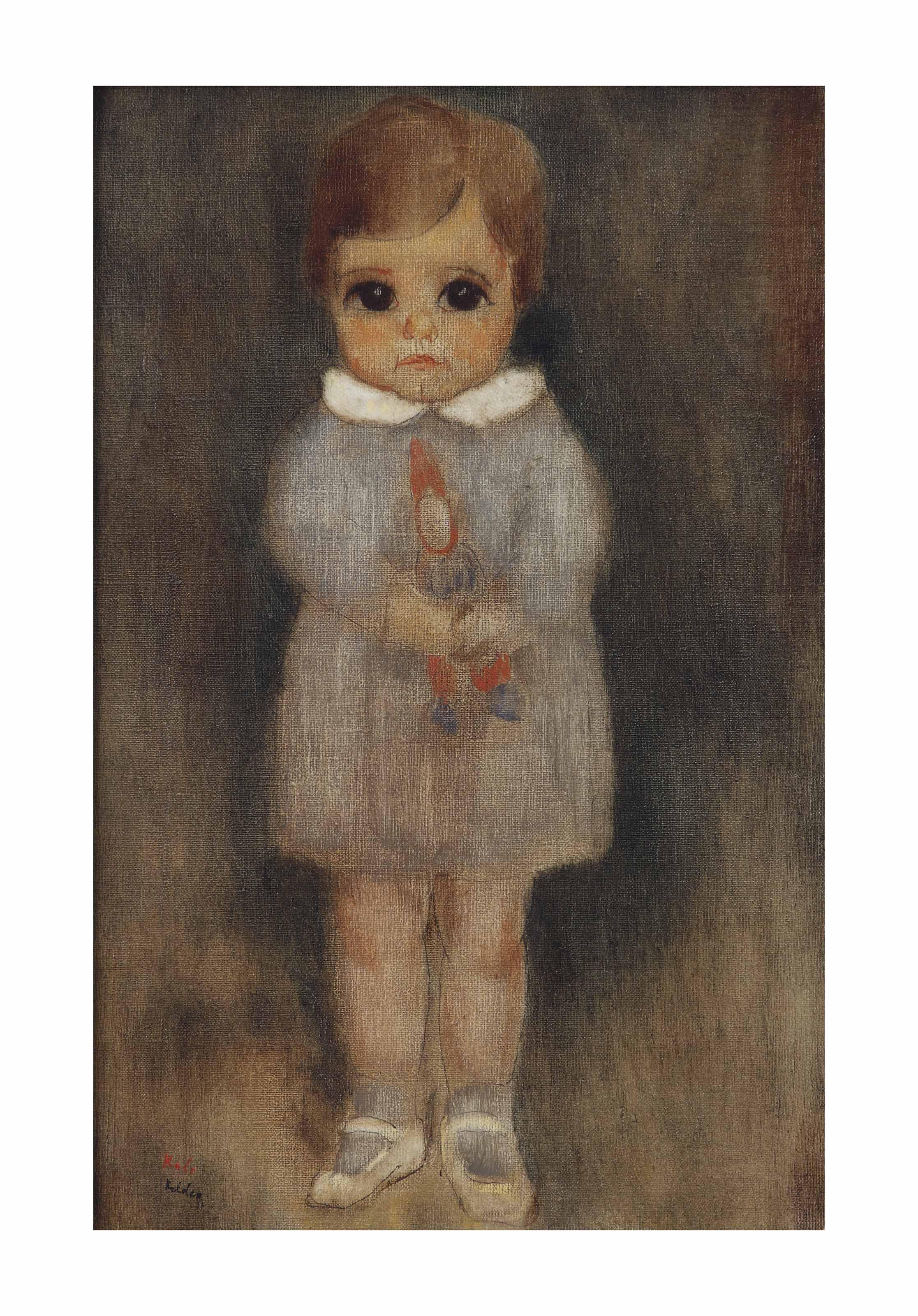 Renée with doll