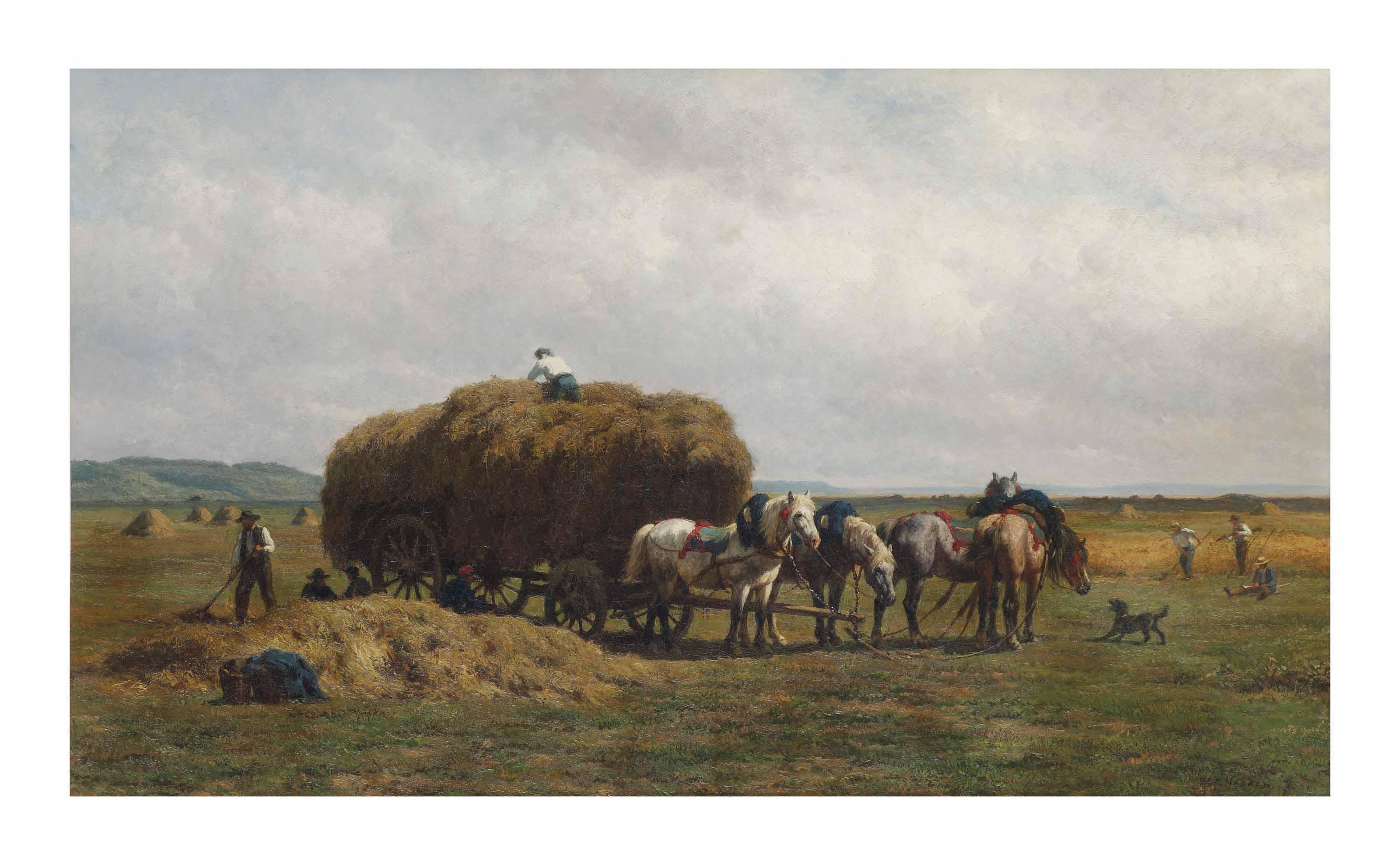 Loading the hay wagon