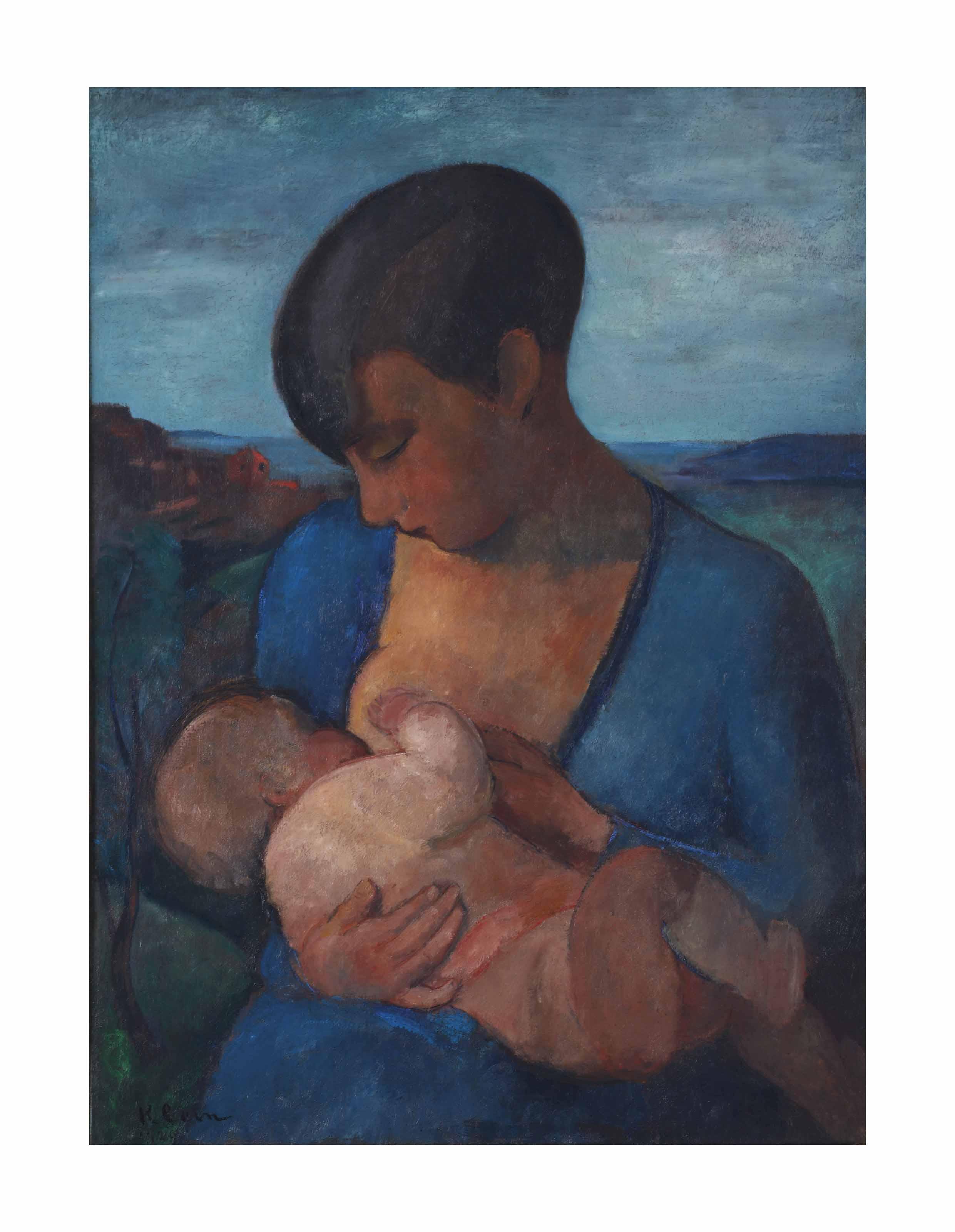 Maternité: the artist's wife Marie Raymond and their son Yves Klein