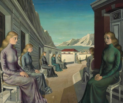 paul delvaux 1897 1994 le village des sir nes christie 39 s On paul delvaux le miroir