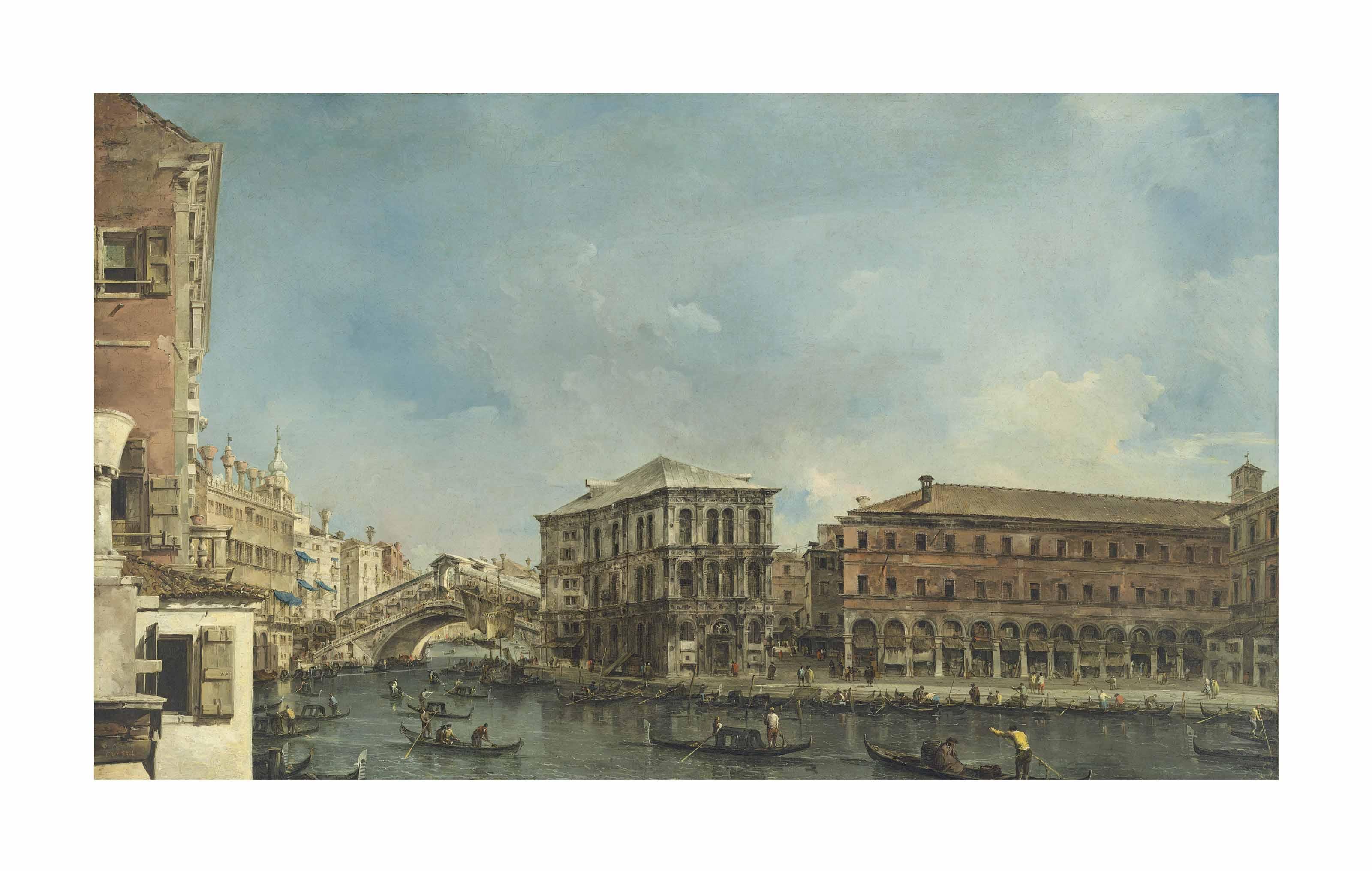 Venice: the Rialto Bridge with the Palazzo dei Camerlenghi