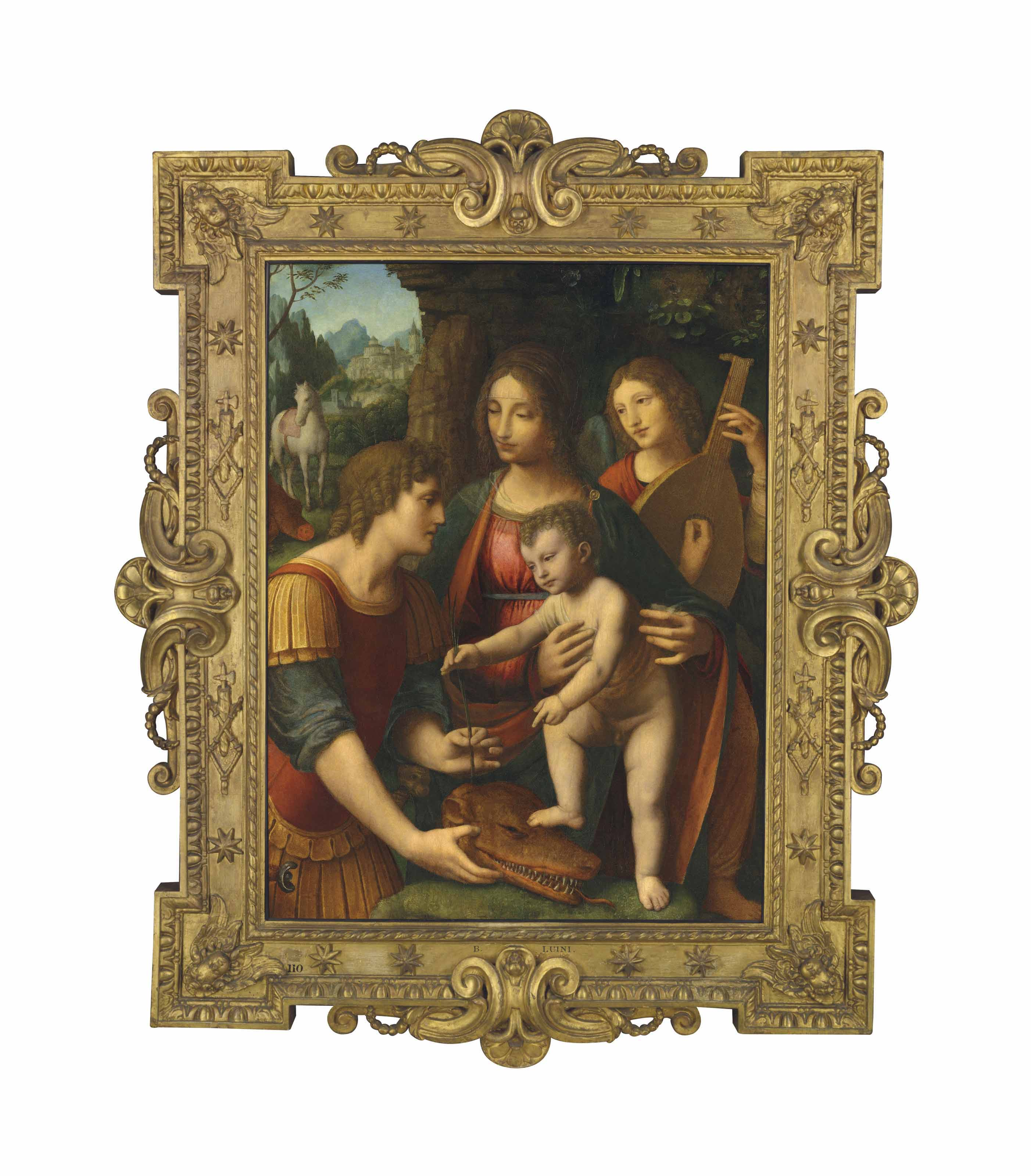 The Madonna and Child with Saint George and an angel