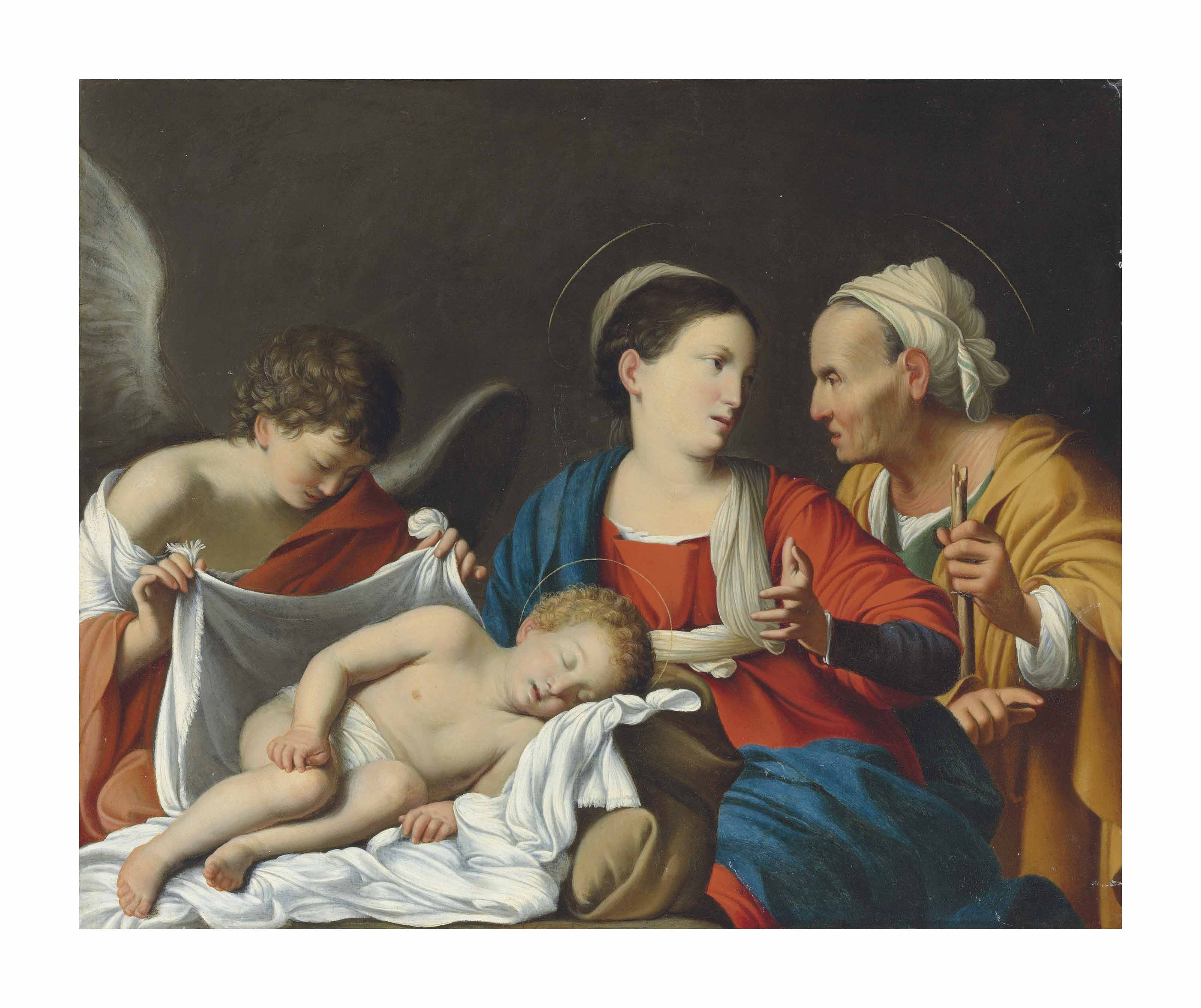 The Madonna and Child with Saint Anne and an angel