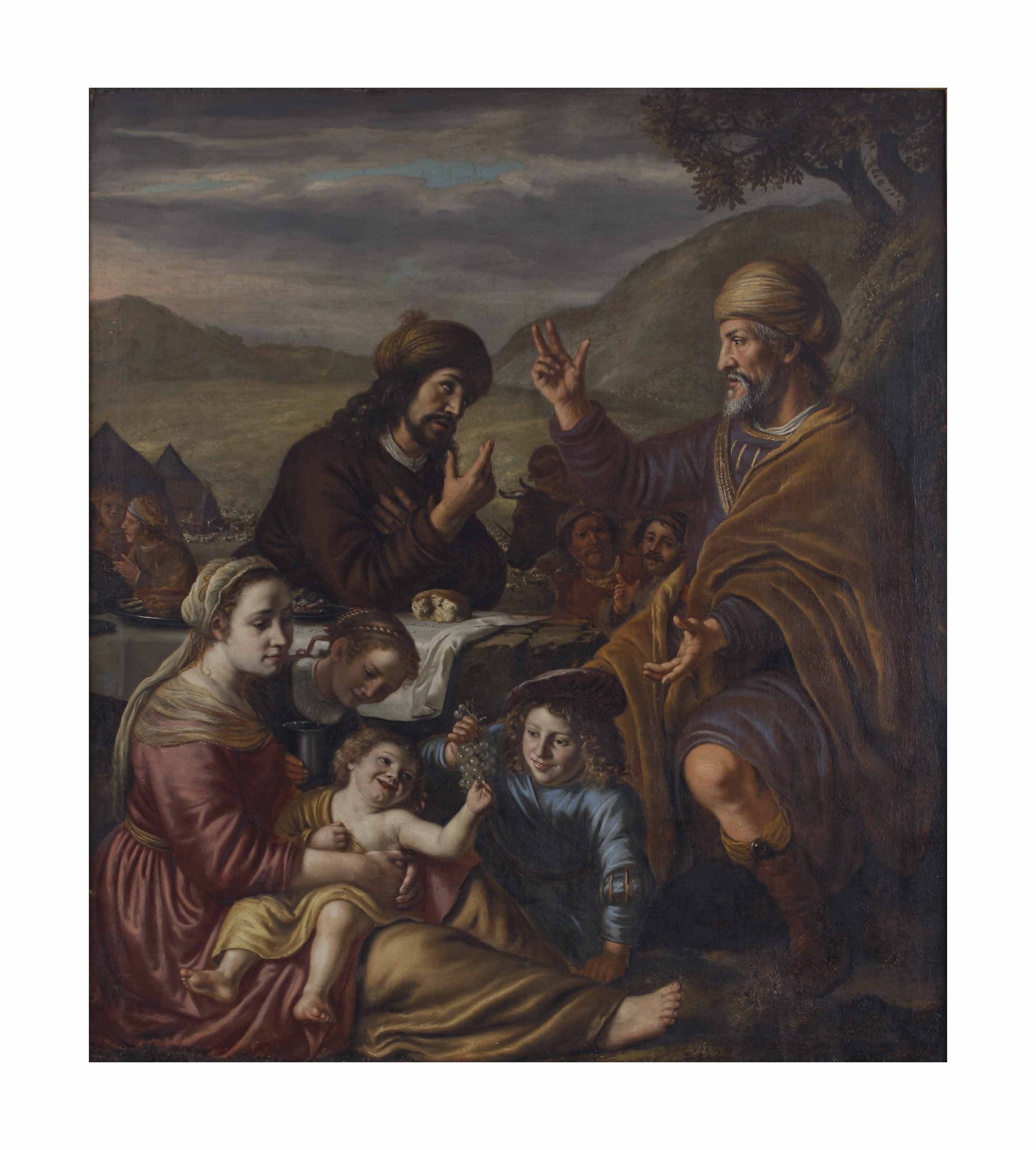 Laban reconciled with Jacob