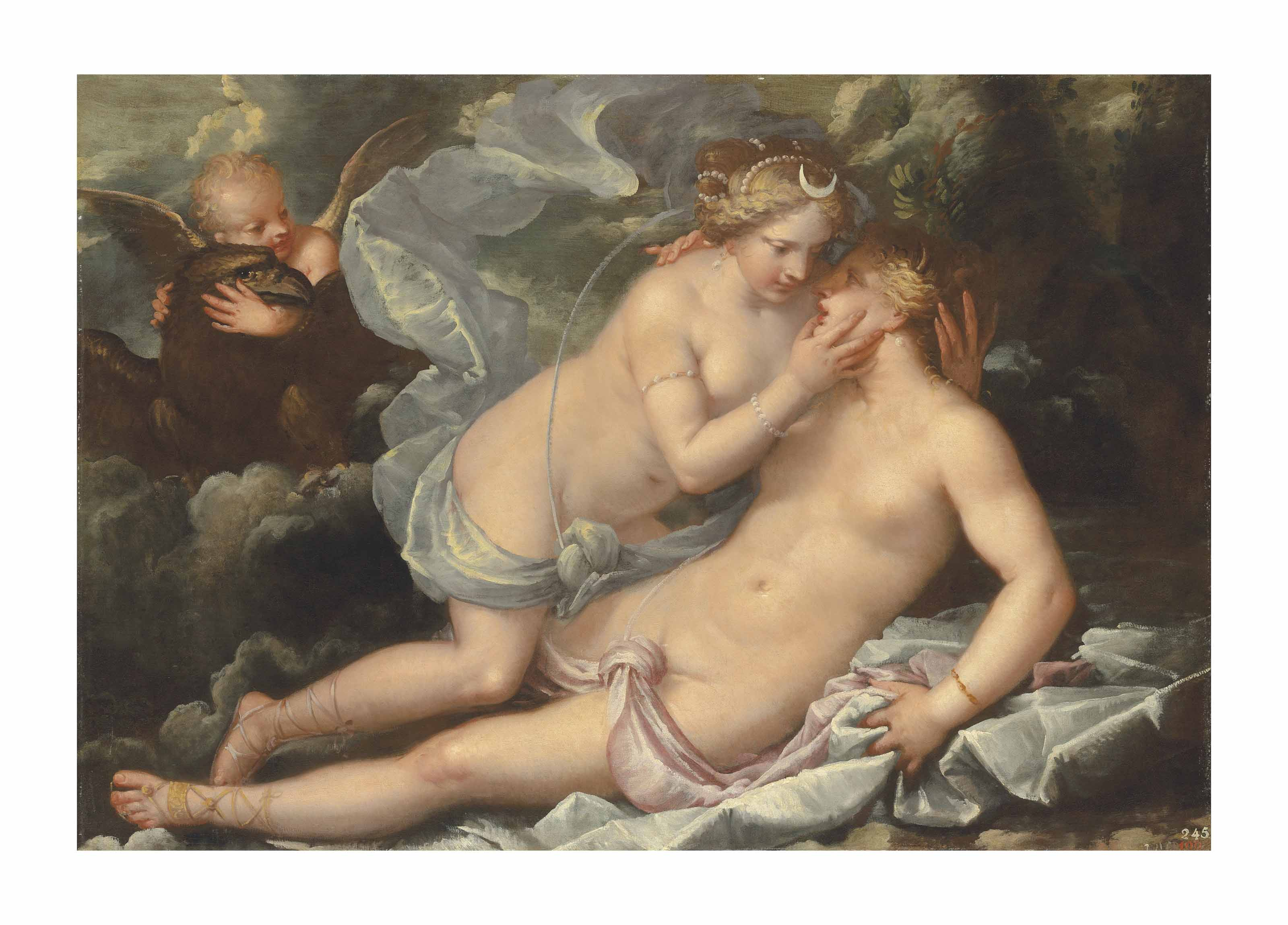 Jupiter in the guise of Diana and the nymph Callisto