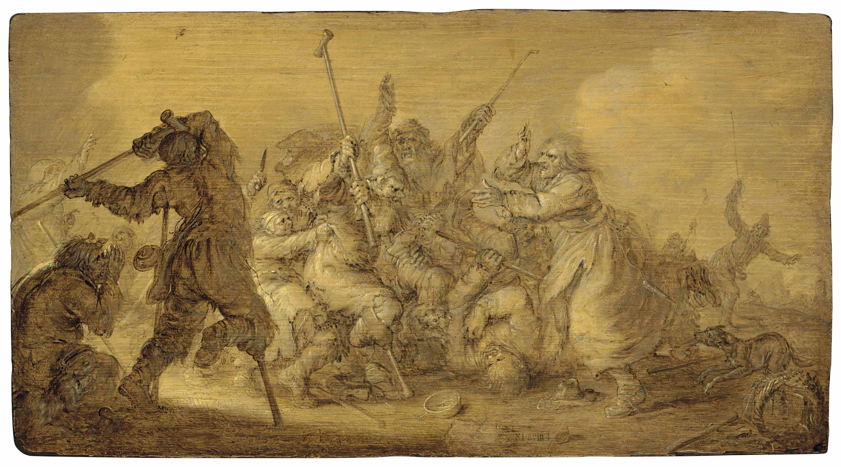 Fighting beggars - en brunaille