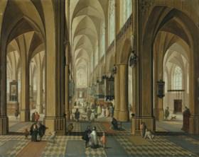 Pieter Neefs II (Antwerp 1620-after 1685) and Follower of Fr