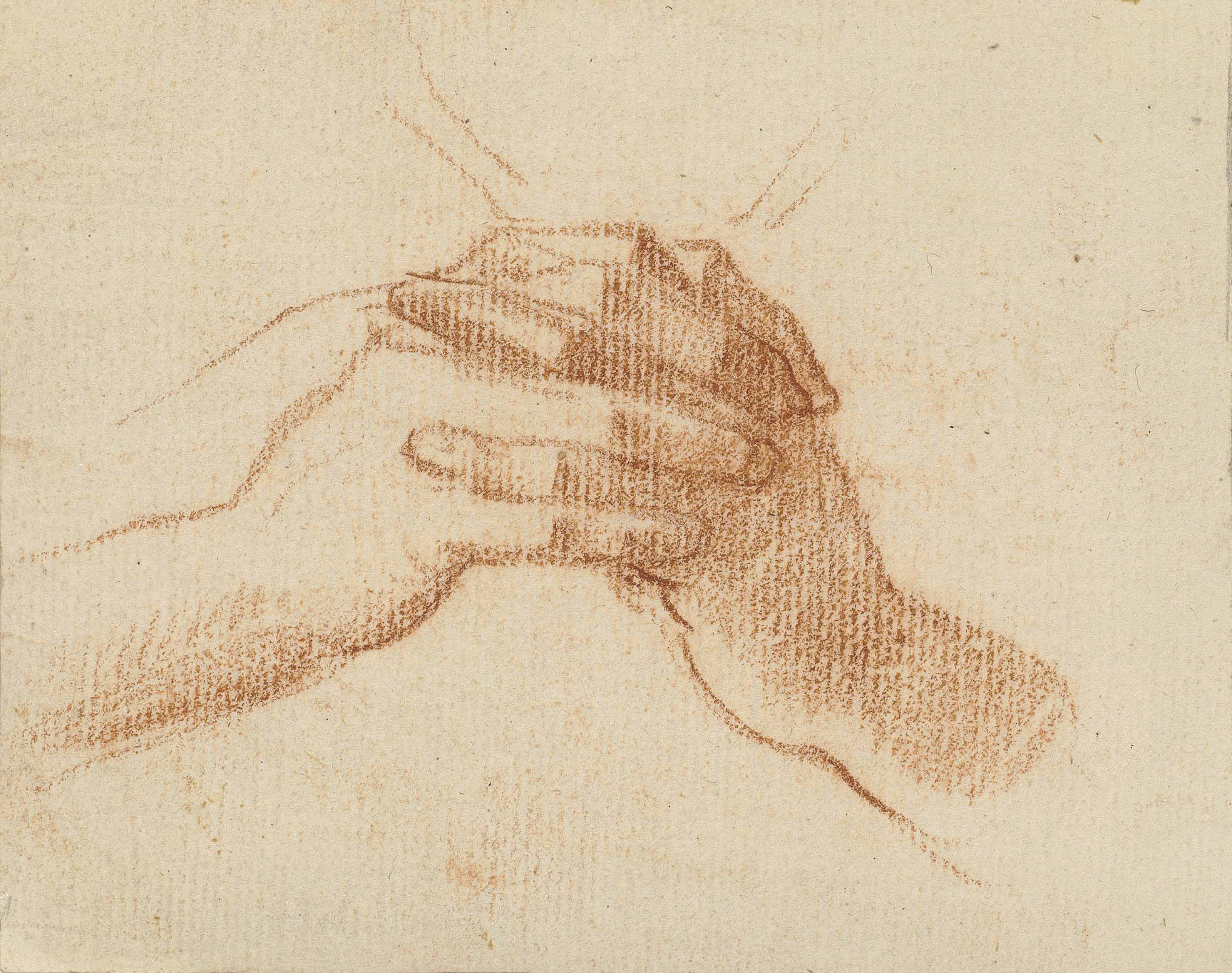 Study of clasped hands