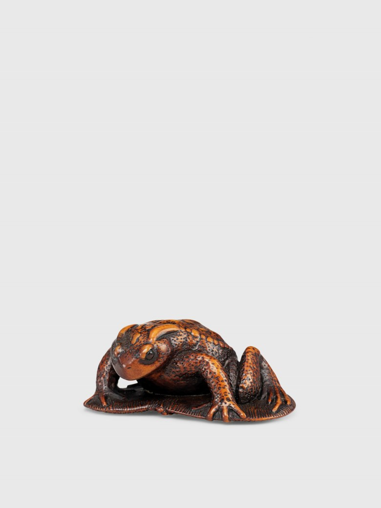 Collecting guide 5 things to know about netsuke christies a wood netsuke of a toad on a sandal signed tanri edo period biocorpaavc Images