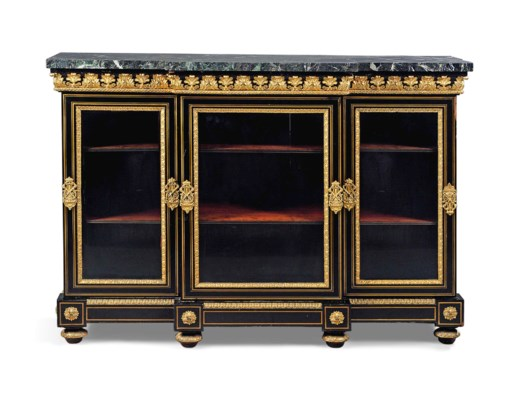 a restauration ormolu mounted brass inlaid ebony bibliotheque basse by pierre etienne. Black Bedroom Furniture Sets. Home Design Ideas