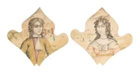 TWO PORTRAITS OF QAJAR YOUTHS