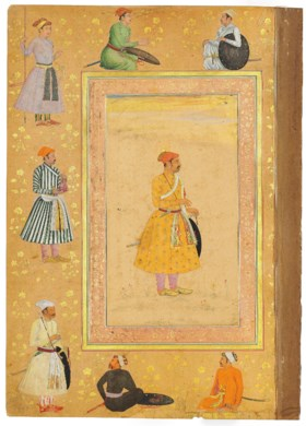 RECTO WITH A PORTRAIT OF JAI SINGH KACHHAWA OF AMBER, VERSO