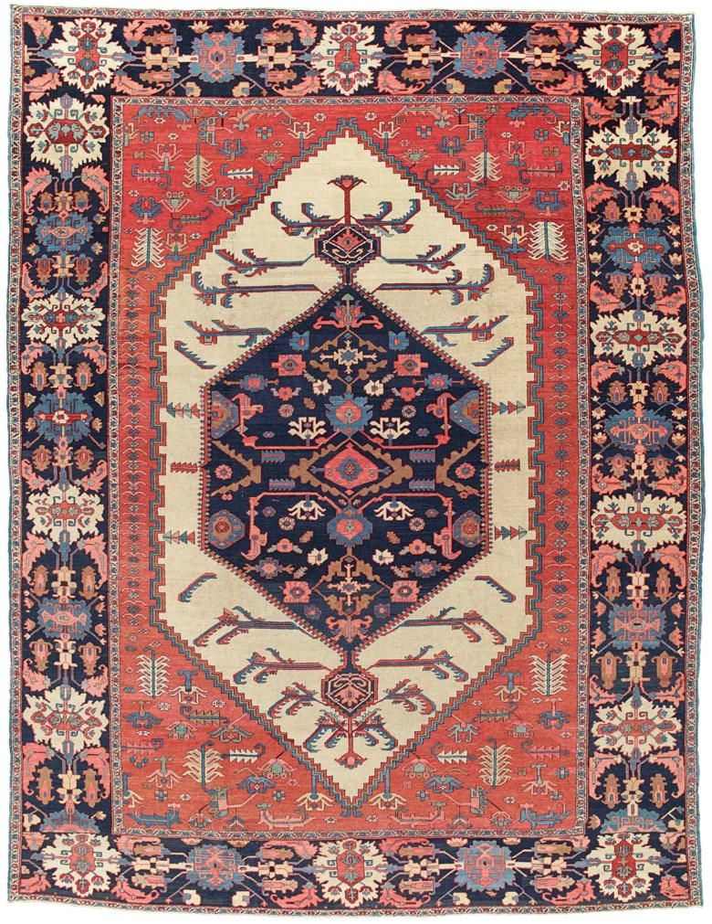 A Bakshaish carpet, west Persia, circa 1880. 16 ft 6 in x 12 ft 10 in (502 cm x 392 cm). This lot was offered in Art of the Islamic and Indian Worlds Including Oriental Rugs and Carpets on 26 October 2017  at Christie's in London