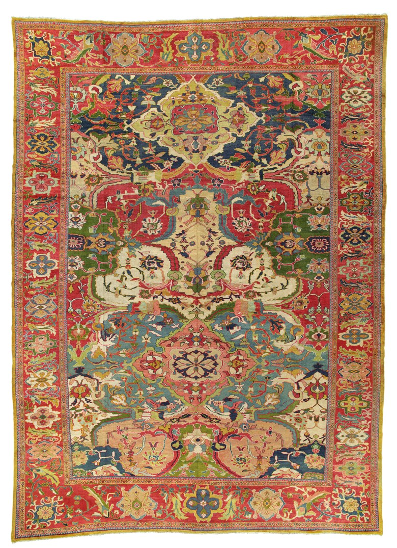 A large Ziegler carpet, Sultanabad district, west Persia, circa 1890. 21 ft 9 in x 14 ft 6 in (662 cm x 442 cm). This lot was offered in Art of the Islamic and Indian Worlds Including Oriental Rugs and Carpets on 26 October 2017  at Christie's in London