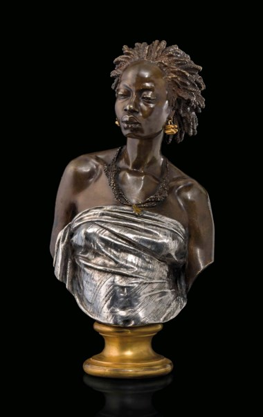 Charles-Henri-Joseph Cordier (french, 1827-1905), Vénus Africaine, cast circa 1855-1900. 16  in (40.5  cm) high. Estimate £20,000-30,000. This lot is offered in The Collector Silver,19th Century Furniture, Sculpture & Works of Art on 16 November 2017  at Christie's in London