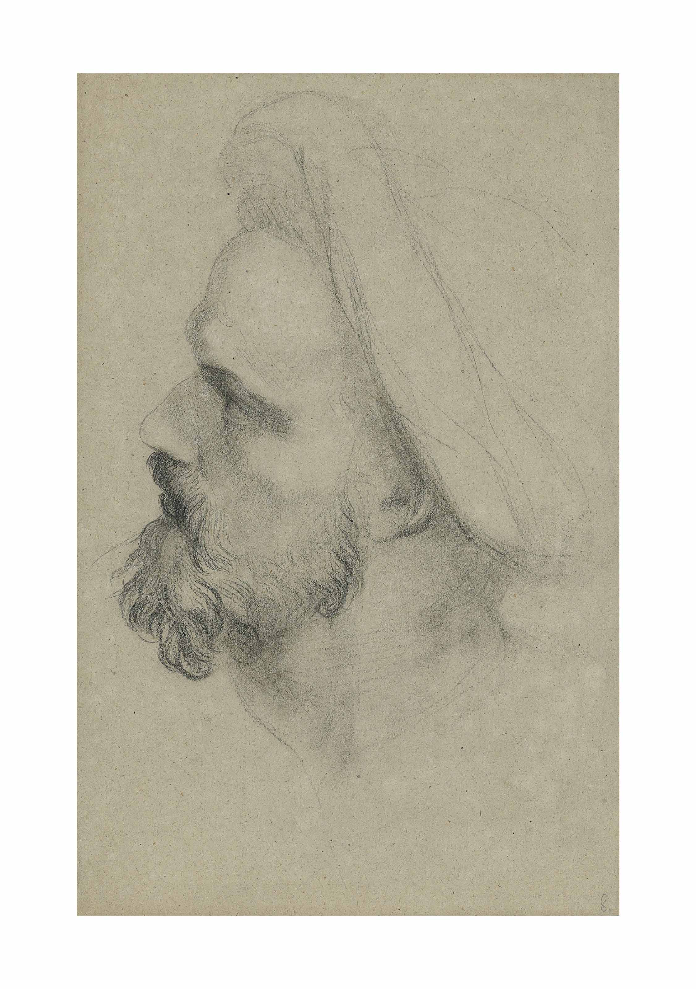 Head study for Justice, A Hemicycle of Lawgivers